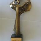 """Statuetka """"EUREKA 2009"""" za najlepszą innowacyjną technologię roku."""