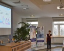 Grzegorz Bednarek, autor najlepszej prezentacji, przedstawia efekt swojej pracy