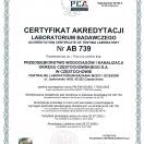 Certyfikat Akredytacji AB 739