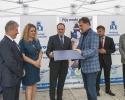 Prezes Zarządu Wodociągów Częstochowskich - P. Michał Król odbiera nagrodę