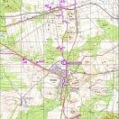 """Mapa sieci wodociągowej ujęcia """"Olsztyn"""""""