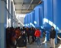 Młodzież zwiedza ujęcie wody Wierzchowisko z jedyną w Polsce stacją usuwania azotanów na drodze biologicznej denitryfikacji